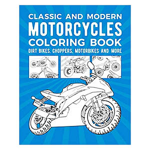 Classic & Modern Motorcycles Colouring Book