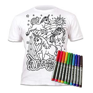 Colour-in Unicorn T-Shirt