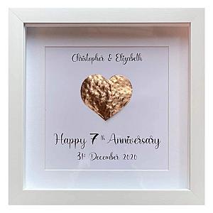 Copper Heart Framed Print