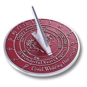 Coral Anniversary Sundial
