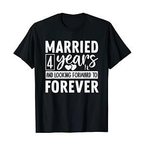 Couple´s 4th Anniversary T-Shirt