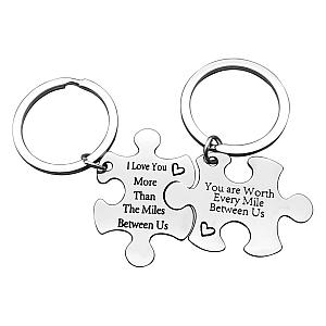 Couples Jigsaw Piece Keyrings