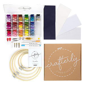 Crafterly 245 Piece Embroidery Kit