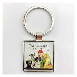Crazy Dog Lady Keyring