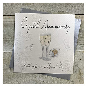 Crystal Anniversary Card