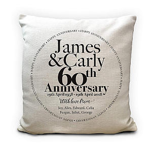 Customised Anniversary Sofa Cushion