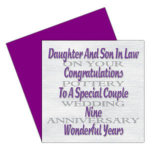 Daughter and Son-in-Law Anniversary Card