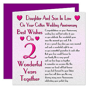 Daughter and Son in Law Anniversary Card