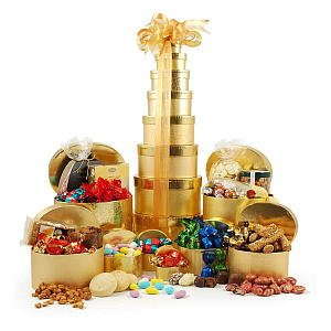 Deluxe Gold Gift Tower