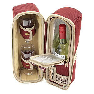 Deluxe Wine Cooler Bag with 2 Glasses