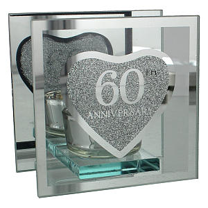 Diamond Anniversary Tea Light Holder