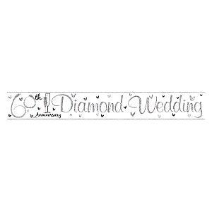 Diamond Wedding Anniversary Banner