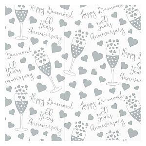 Diamond Wedding Wrapping Paper