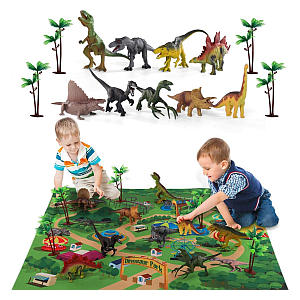 Dinosaur Figures with Activity Play Mat