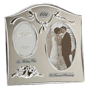 Double Photo Silver Plated Frame
