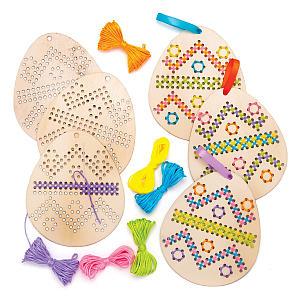 Easter Egg Wooden Cross Stitch Kit