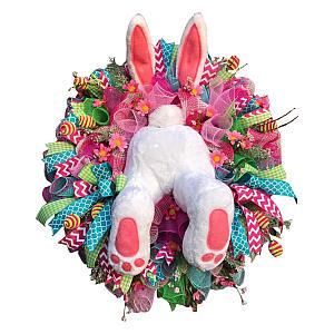 Easter Rabbit Front Door Wreath