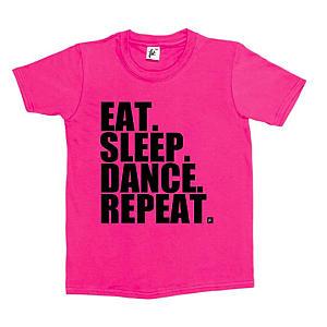 Eat, Sleep, Dance, Repeat Kid's T-Shirt