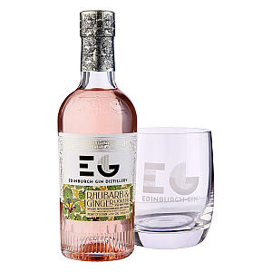 Edinburgh Gin and Stemless Glass Set