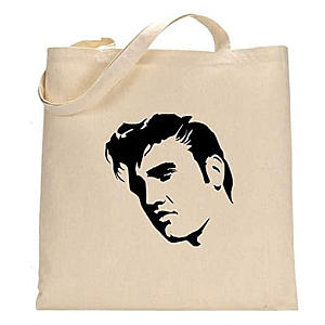 Elvis Painted Shopping Bag