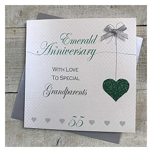 Emerald Anniversary Card for Grandparents