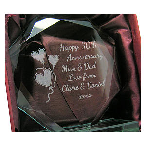 Engraved Cut Glass Keepsake