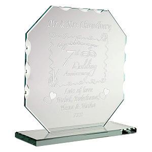 Engraved Glass Plaque