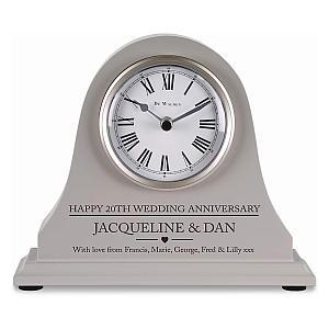 Engraved Grey Mantle Clock