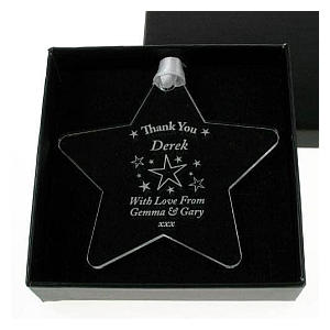 Engraved Thank You Star