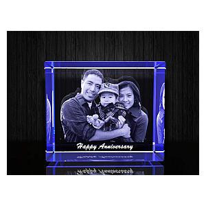 Engraved Crystal 3D Photo Frame