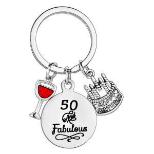 50 & Fabulous Keychain