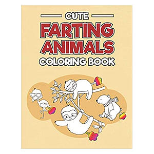 Farting Animals Colouring Book for Kids