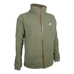 Fleece Shooting Jacket with Pheasant Embroidery