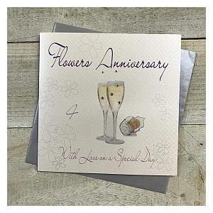 Flowers Anniversary Card