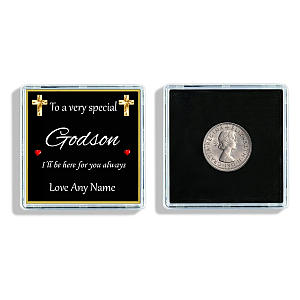For Godson Lucky Sixpence