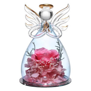 Forever Rose in Angel Glass Figurine