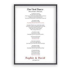 Framed 1st Dance Lyrics