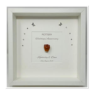 Framed Pottery Picture Gift