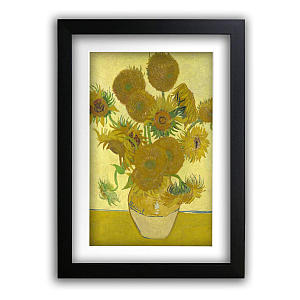 Framed Van Gogh Sunflowers Print
