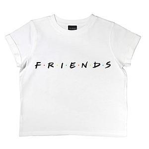 Friends Text Logo Cropped T-Shirt