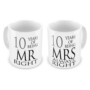 Funny 10 Year Mr And Mrs Mugs