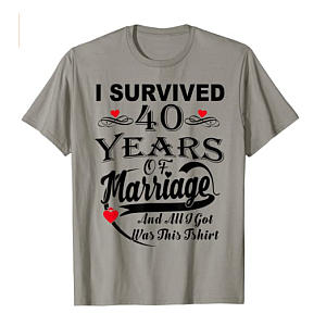 Funny 40 Years Of Marriage T-Shirt