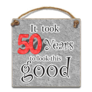 Funny 50th Hanging Plaque
