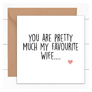 Funny Anniversary Card for Wife