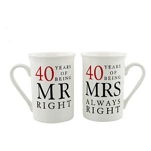 Funny Mr And Mrs 40 Years Mugs