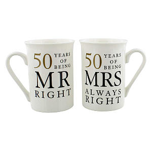 Funny Mr And Mrs 50th Anniversary Mugs