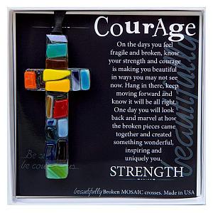 Get Well 'Courage' Handmade Cross