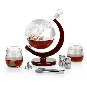 Glass Whisky Decanter Set