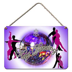 Glitter Ball Hanging Plaque