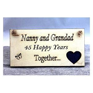 Grandparents Anniversary Plaque